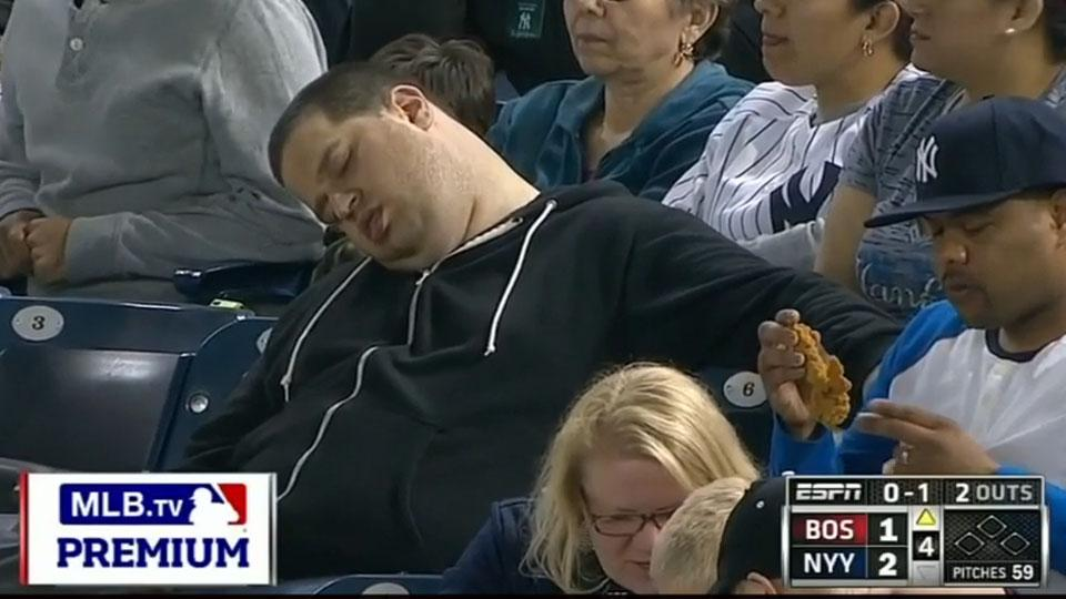Sleeping fan at Red Sox-Yankees game sues ESPN, MLB