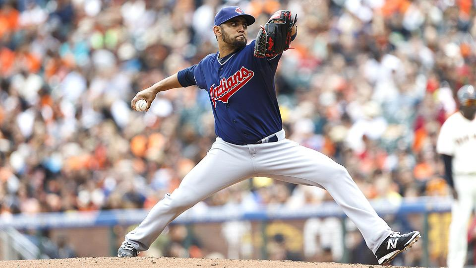 After being demoted to Triple-A Columbus in May, Danny Salazar returns to the big leagues in place of Justin Masterson.