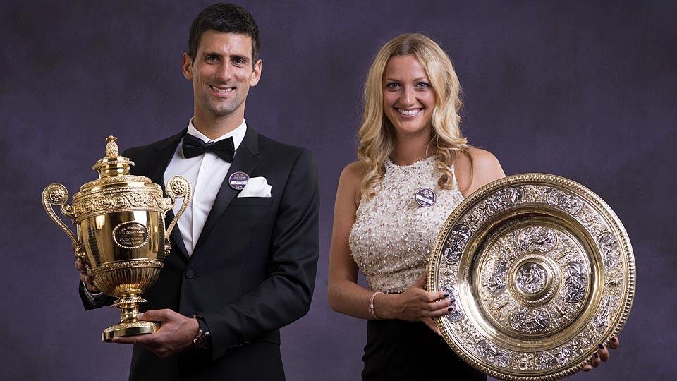 Novak Djokovic and Petra Kvitova both won their second Wimbledon titles.