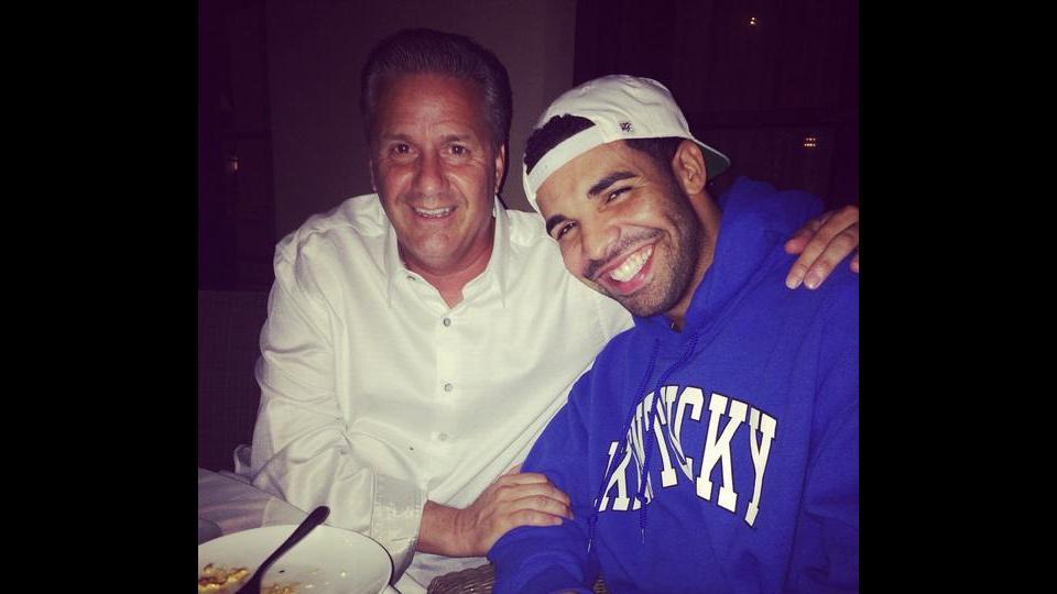 Drake and Kentucky coach John Calipari had dinner
