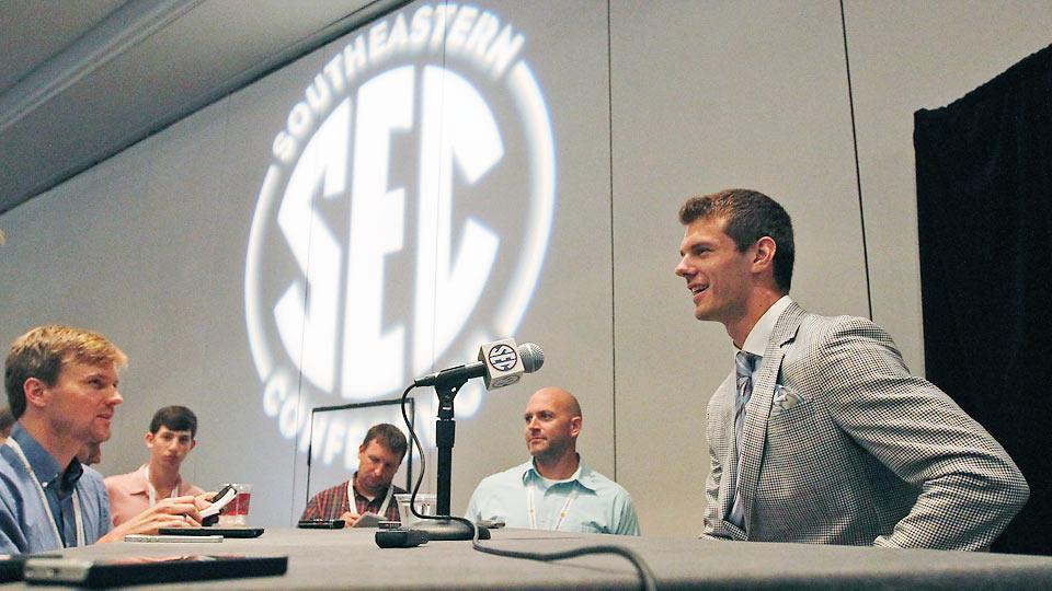 Texas A&M punter Drew Kaser soaks in spotlight at SEC Media Days
