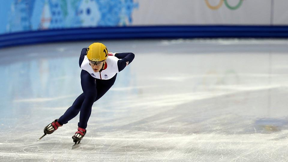 Elise Christie suffered days of social media abuse after crashing in the 500 final, but recovered to race a strong 1000 heat on Tuesday.