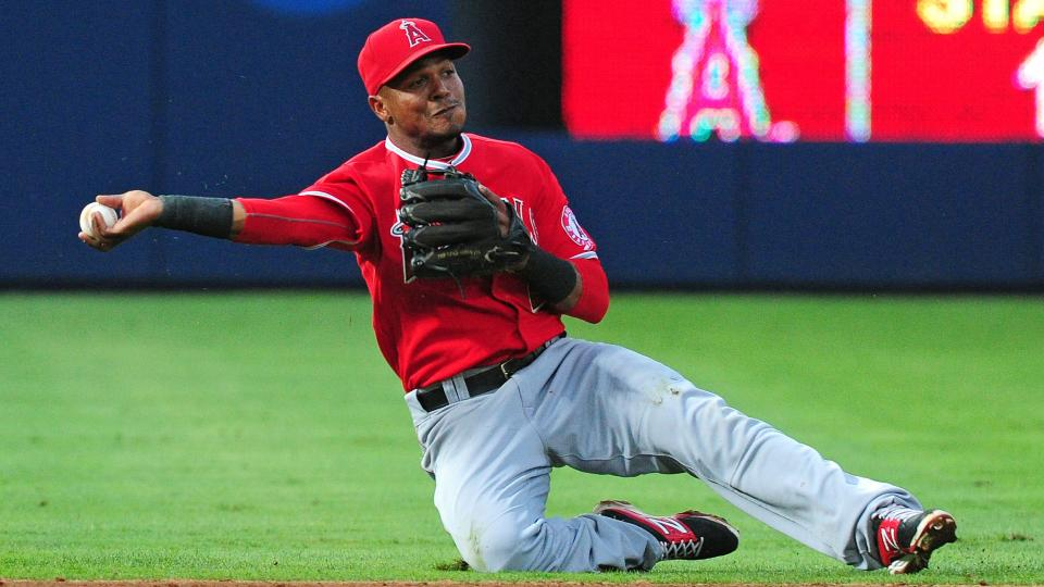 After Alex Gordon went down with injury, Erick Aybar has been called on to replace him.