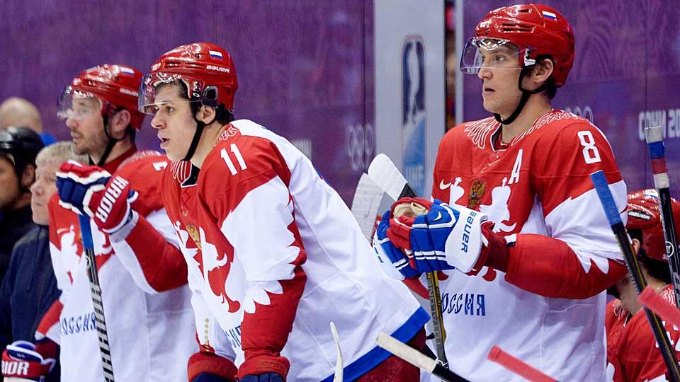 Here we go again: The KHL has long been trying to woo Russian stars like (left to right) Ilya Kovalchuk, Evgeni Malkin and Alex Ovechkin into returning home to play.