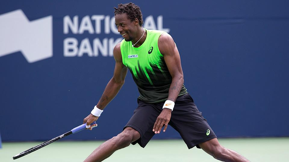 Watch: Gael Monfils hits a leaping, between-the-legs shot in Toronto