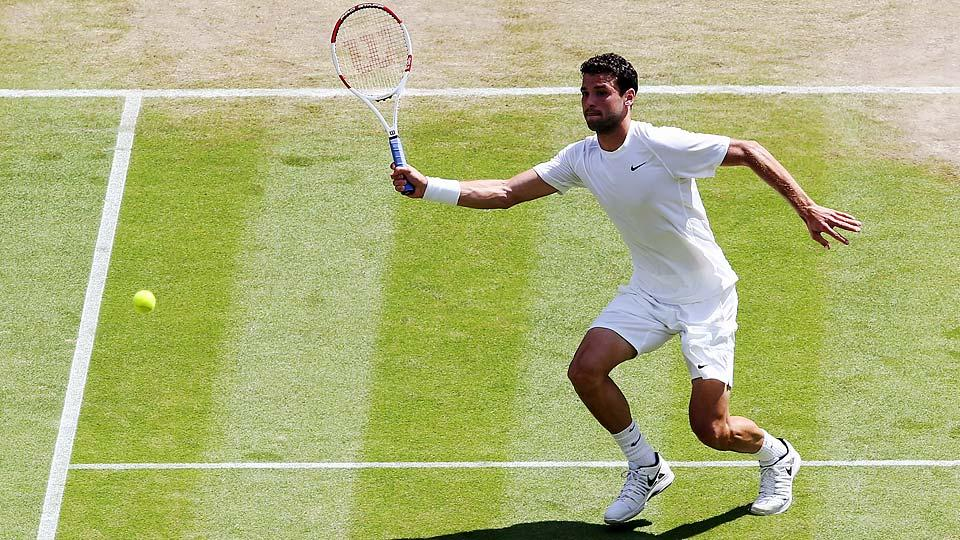 Grigor Dimitrov, a 23-year-old from Bulgaria, advanced to a Grand Slam semifinal for the first time.