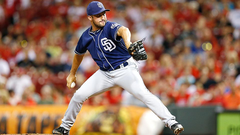 Huston Street has tallied a 1.12 ERA and 23 saves in 32 games pitched for the San Diego Padres this season.
