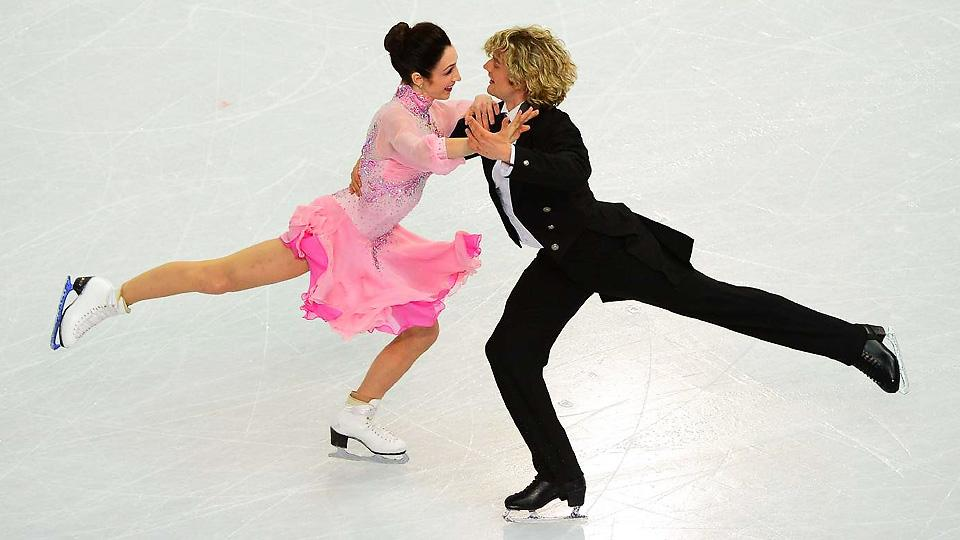 Meryl Davis (left) and Charlie White are in a strong position as the final free skate approaches on Monday.