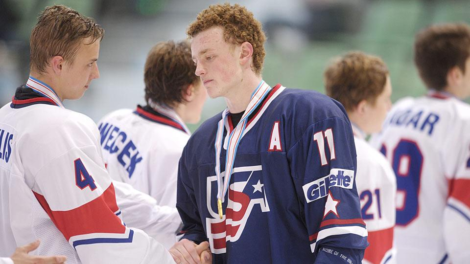 Highly touted forward Jack Eichel returns from USA's 2014 world juniors team.