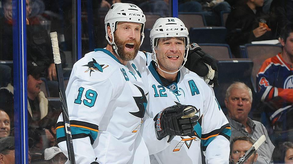 The prospect of watching another season of Joe Thornton (19) and Patrick Marleau (12) doesn't please Sharks fans still reeling from the team's latest playoff disaster.