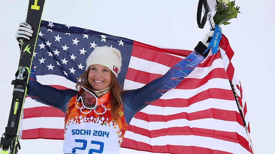 Julia Mancuso's good run on the slalom course, combined with her top time in the downhill, earned her a bronze medal in the women's combined Monday.