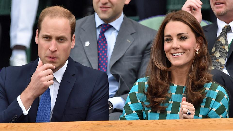 Prince William's and Kate Middleton's blood pressure is normal at the beginning of the Wimbledon men's final between Roger Federer and Novak Djokovic.