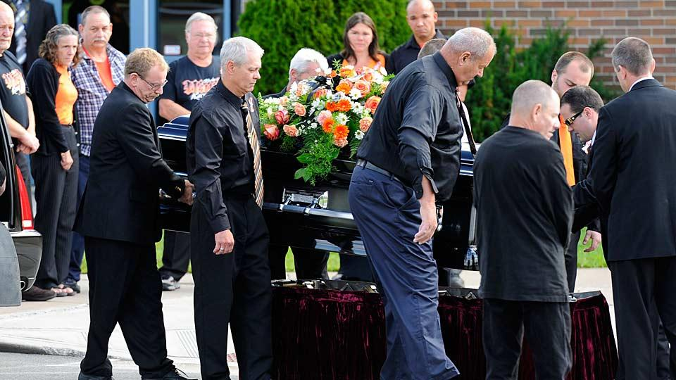 Funeral for Kevin Ward Jr., driver killed by Tony Stewart's car