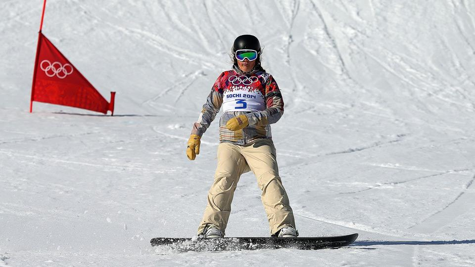 Lindsey Jacobellis is looking to snag a gold medal in the women's snowboard cross event.