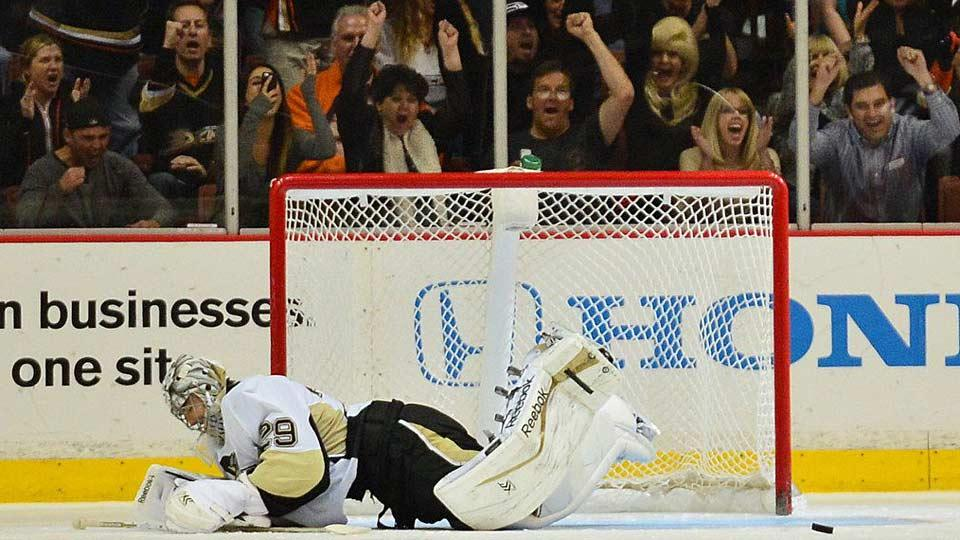Marc-Andre Fleury's stock has fallen sharply since he backstopped the Penguins to the Stanley Cup in 2009, and he may be at the end of the line in Pittsburgh.