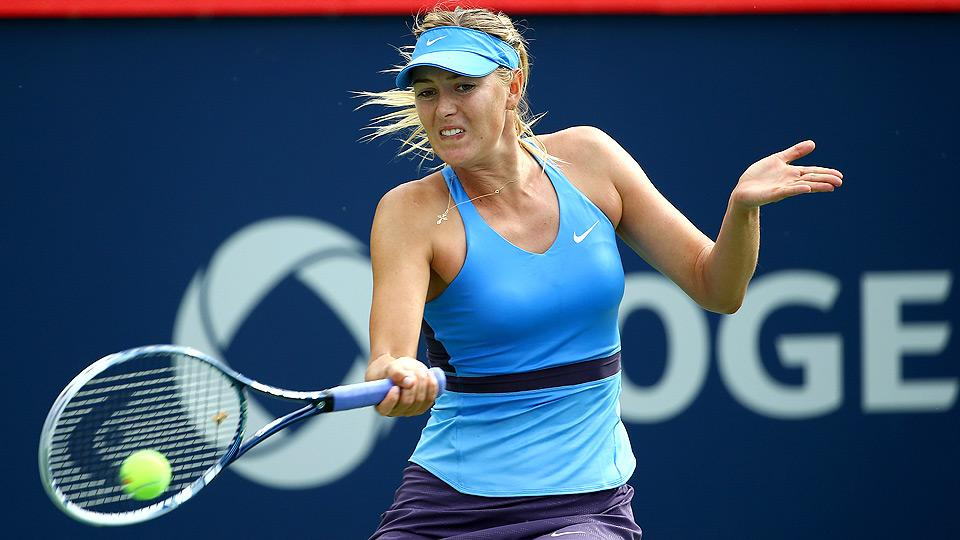 Sharapova can't hang on against Suarez Navarro in Montreal