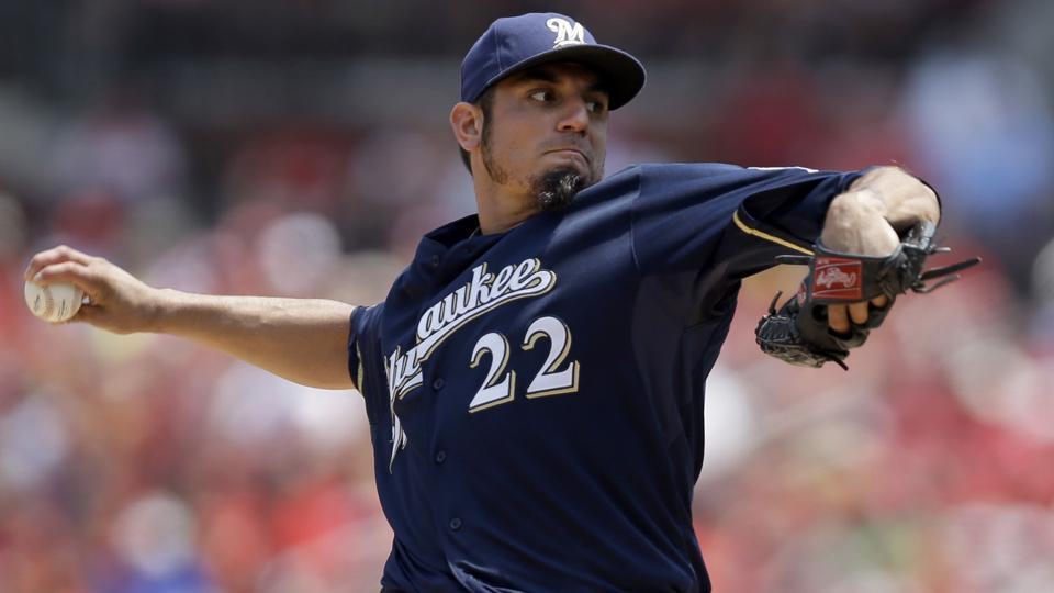 Brewers suffer big blow in loss of Matt Garza to oblique strain