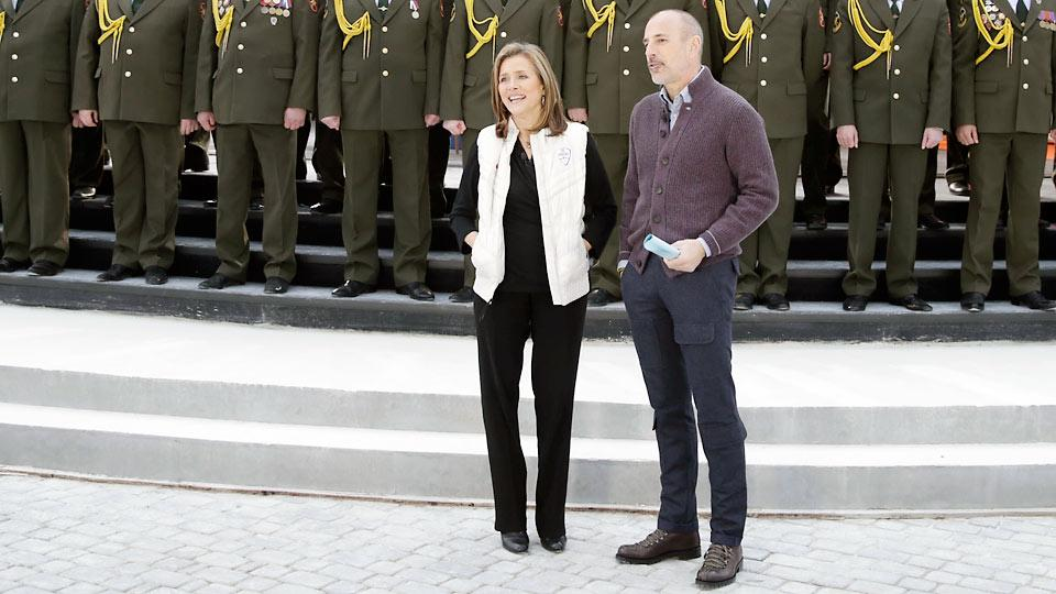 Meredith Vieira co-hosted the Sochi Olympics Opening Ceremony with Matt Lauer and has done segments for the Today show during the games.
