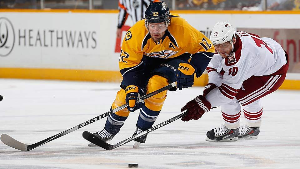 Versatile center Mike Fisher, a 14-year veteran who has been playing for Nashville since 2011, will not be easy for the Predators to replace.