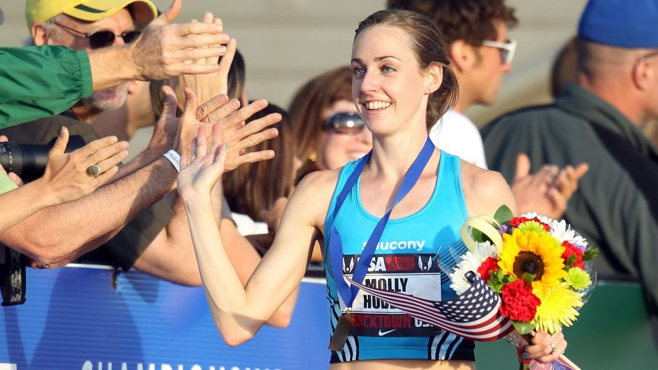 Molly Huddle breaks U.S. 5,000-meter record