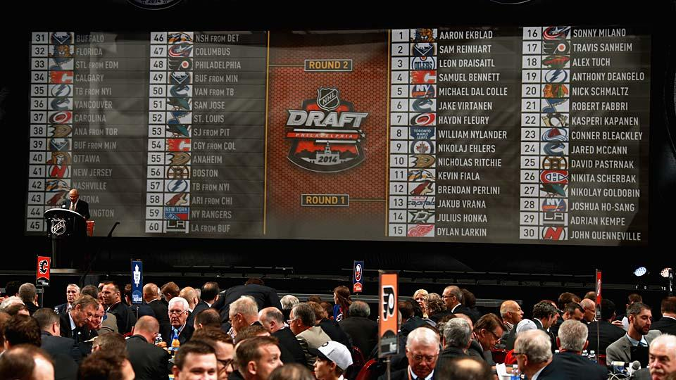 A total of 210 players from 12 countries were taken during the two-day NHL Draft in Philadelphia on June 27-28.