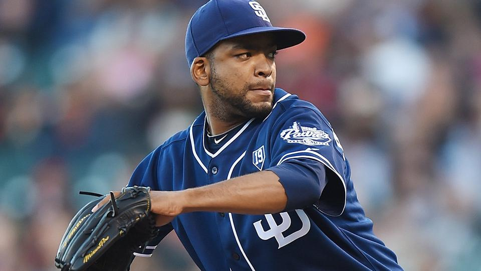 Former Cuban national star Odrisamer Despaigne threw seven scoreless innings against the San Francisco Giants in his MLB debut for the San Diego Padres.
