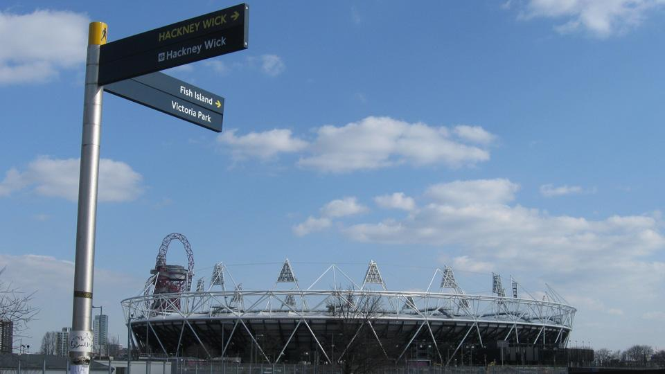 Queen Elizabeth Olympic Park is in east London, the city's poorest area.