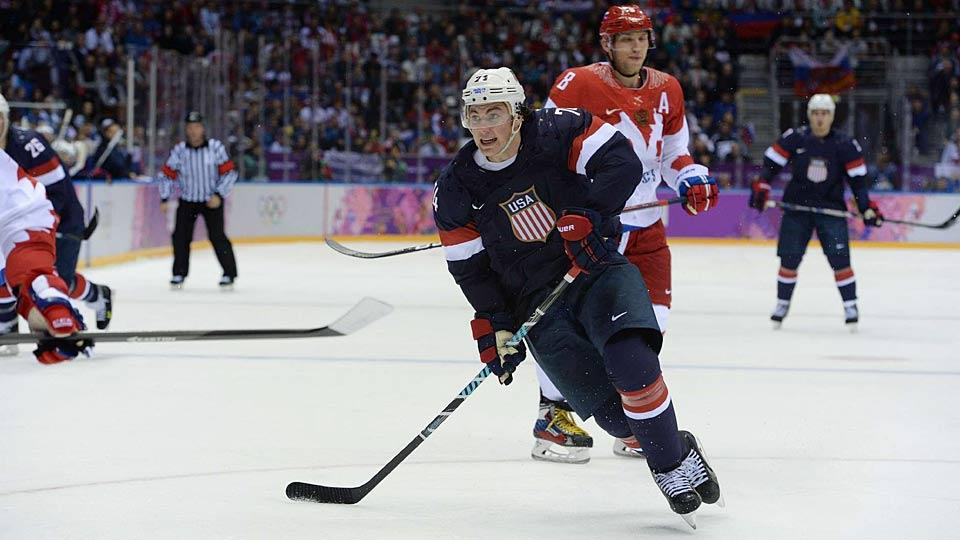 The USA's T.J. Oshie was the surprise hero of a game that had comedy as well as tragedy for Alex Ovechkin's Team Russia.
