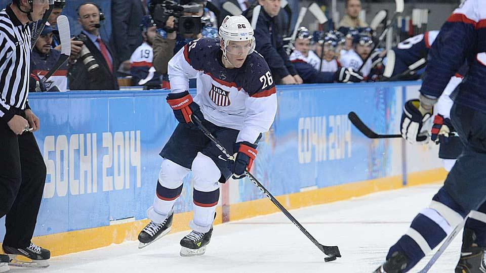Paul Stastny, who scored twice for Team USA in its 7-1 blowout, is from a family with a proud Slovak heritage.
