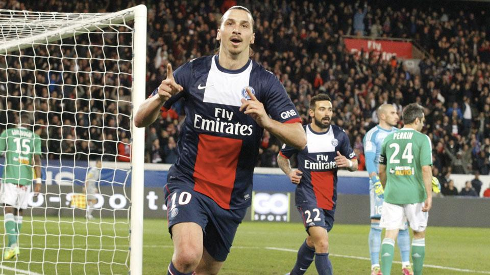 Zlatan Ibrahimovic led PSG in scoring last season.