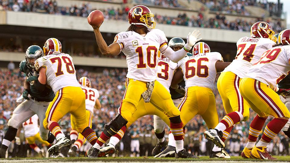 Despite being inactive for the final three games of the season, Robert Griffin III threw for 3,203 yards and 16 touchdowns in 2013.