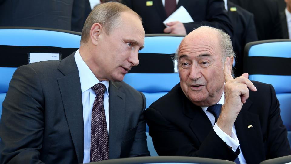 Russian president Vladimir Putin and FIFA president Sepp Blatter spoke at the 2014 World Cup final.