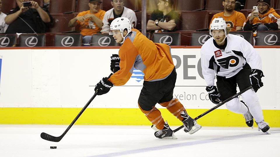 Center Scott Laughton, the Flyers' 2012 first-round draft pick, is expected to play a greater role for Philadelphia next season.