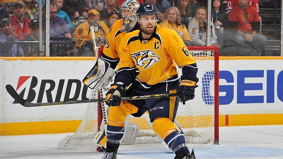 At $14 million last season, Shea Weber of the Predators earned the NHL's highest salary, but adjusted for inflation it's about what Peter Forsberg made in 2003.