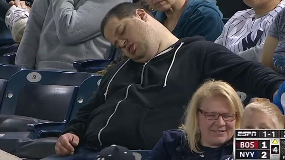 Yankees fan sues team, ESPN, MLB for making fun of him napping at a game