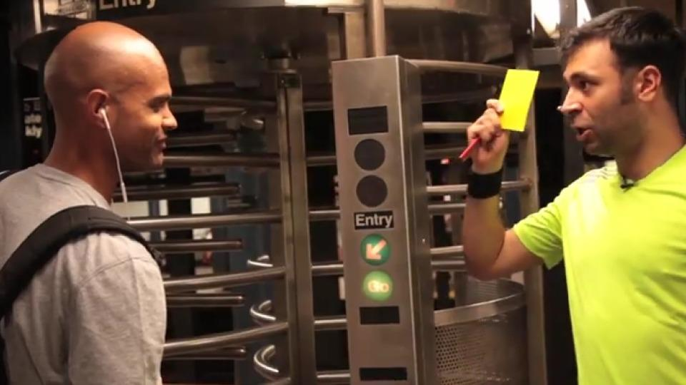 'Ref In The City' is back giving yellow cards to the people of NYC