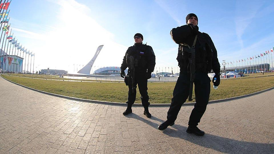 Police and other security forces remain visible in Sochi as concerns over potential terrorist activity have dwindled.