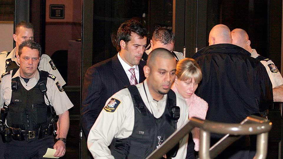 Todd Bertuzzi pleaded guilty to an assault charge in 2004 after injuring Steve Moore with a sucker punch in a game earlier that year.