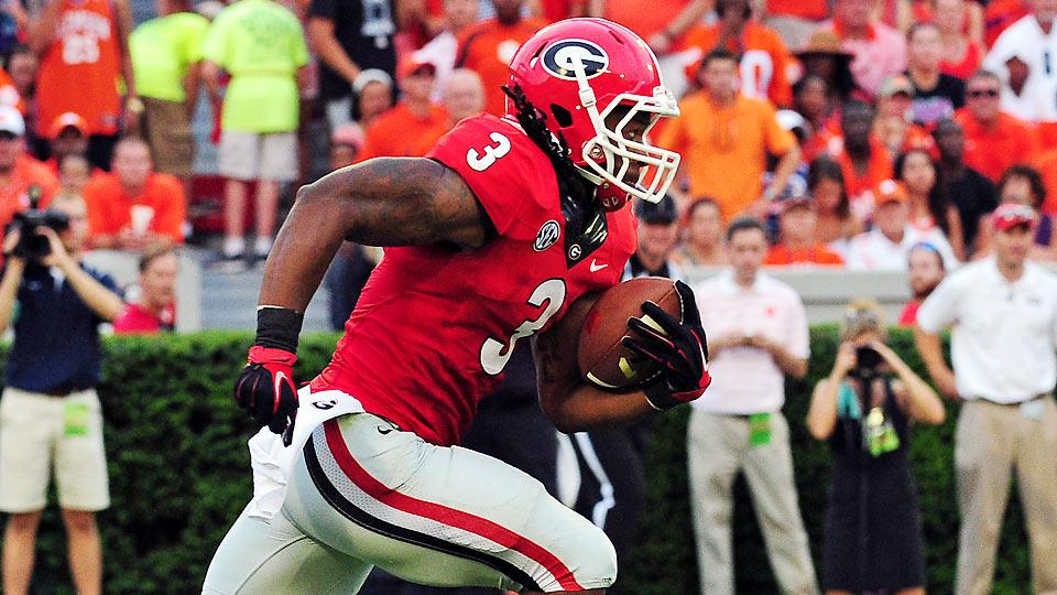 Three and Out: RB Todd Gurley powers No. 12 Georgia past No. 16 Clemson