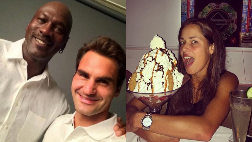 Tweets of the Week: U.S. Open Edition with MJ, CiCi and Ivanovic's ice cream