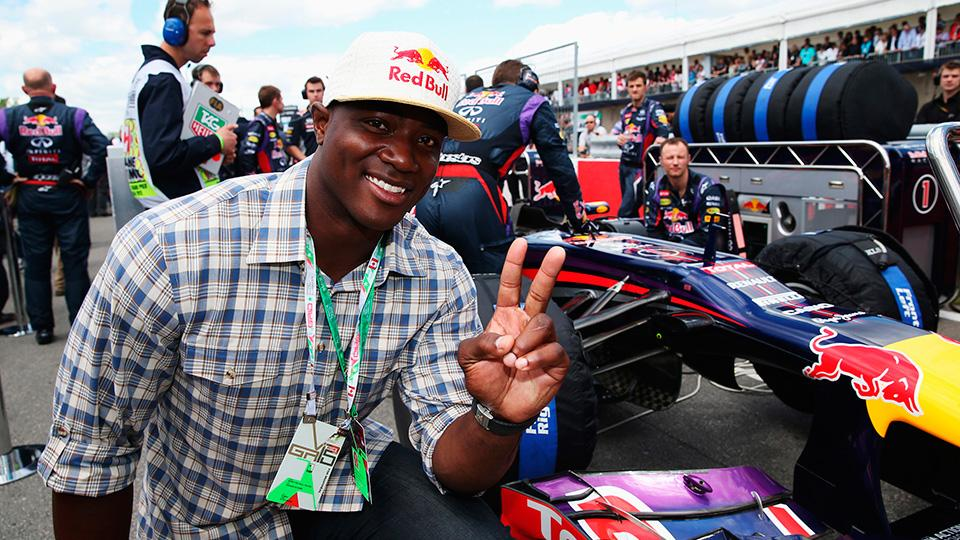 DeMarcus Ware's love of racing runs deep, pictured here at the Canadian Formula One Grand Prix in July 2013.