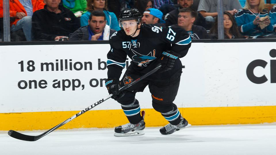 Report: San Jose Sharks agree to three-year contract extension with forward Tommy Wingels