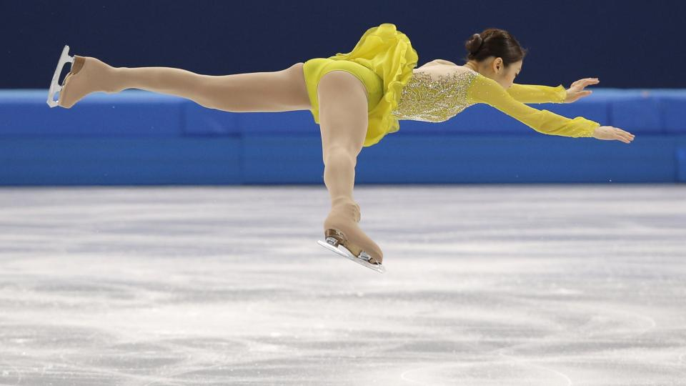 Yuna Kim of South Korea competes in the short program of the women's figure skating competition Wednesday.