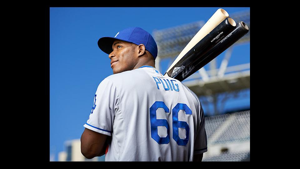 Dodgers outfielder Yasiel Puig is batting .313 with 11 home runs and 45 RBI this season