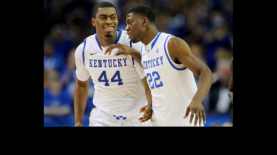 Dakari Johnson (left) will be back for his sophomore year and Alex Poythress for his junior season in 2014-15.