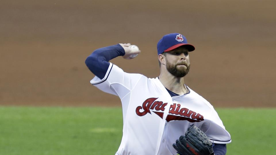 Cleveland Indians starting pitcher Corey Kluber delivers in the fifth inning of a baseball game against the Seattle Mariners Wednesday, July 30, 2014, in Cleveland. Kluber pitched nine innings and gave up three hits. The Indians defeated the Mariners 2-0.