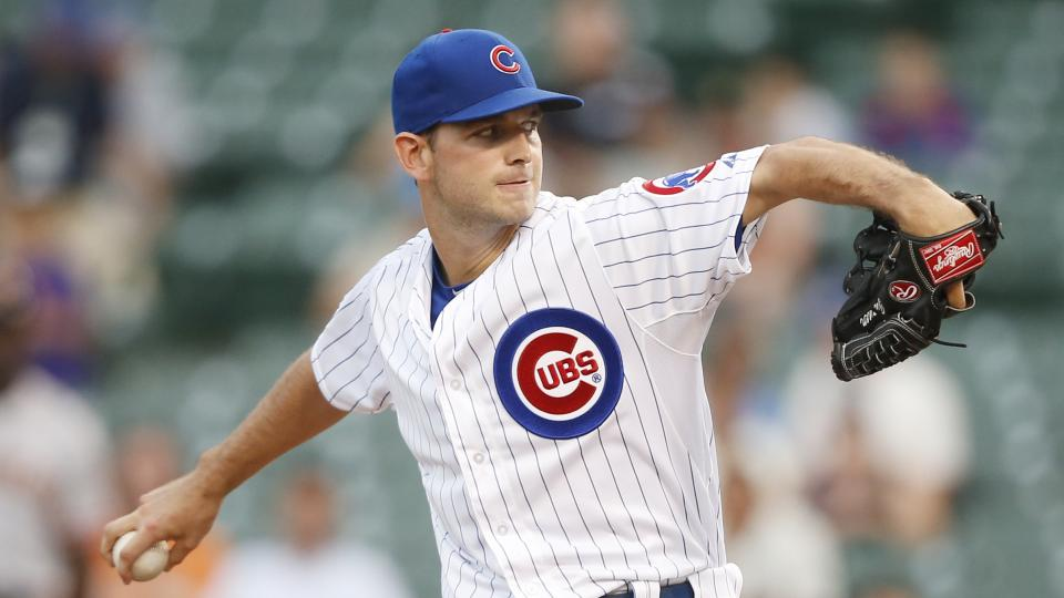 Chicago Cubs relief pitcher Jacob Turner delivers against the San Francisco Giants during the sixth inning of thecontinuationof abaseballgame that beganTuesday, on Thursday, Aug. 21, 2014, in Chicago. Tuesday'sgame was suspended in the fifth inning due to