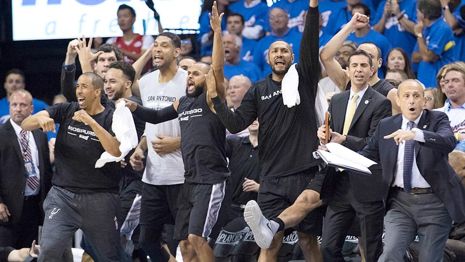spurs top thunder in game 3 to take 2–1 series lead