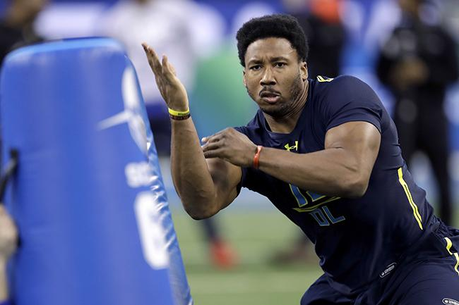 Texas A&M's Myles Garrett at the NFL Combine