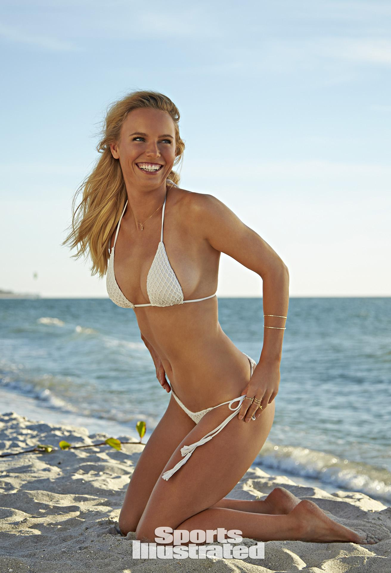 Caroline Wozniacki Swimsuit Photos, Sports Illustrated Swimsuit 2015
